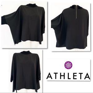 ATHLETA Dolman Oversized Back Zip Top